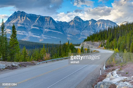Icefields Parkway sunset view : Stockfoto