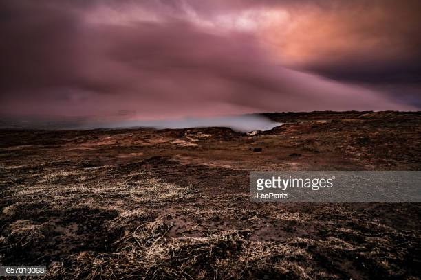 Iceland - Amazing gayser scenic natural landscape view