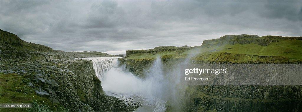 Iceland, Dettifoss (waterfall), (Digital Enhancement) : Stock Photo