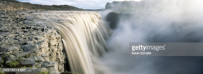 Iceland, Dettifoss Waterfall (blurred motion) : Stock Photo