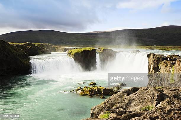 Iceland Famous Godafoss Waterfalls
