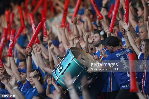 Iceland fans during the UEFA Women's Euro 2017 Group C match between France and Iceland at Koning Willem II Stadium on July 18 2017 in Tilburg...
