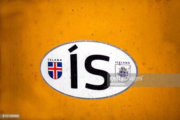 Iceland flag and logo