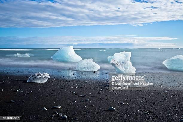 Iceland glacier shore