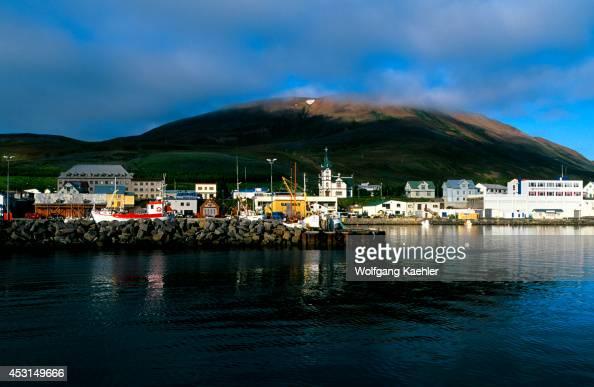 Iceland HUSAVIK View Of City Port