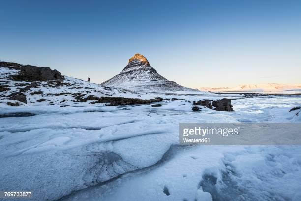 Iceland, Kirkjufell mountain at sunset