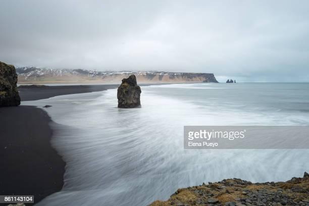 Iceland, Reynisfjara beach from Dyrholaey Peninsula