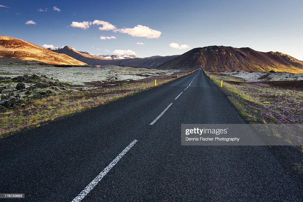 iceland roads : Stock Photo