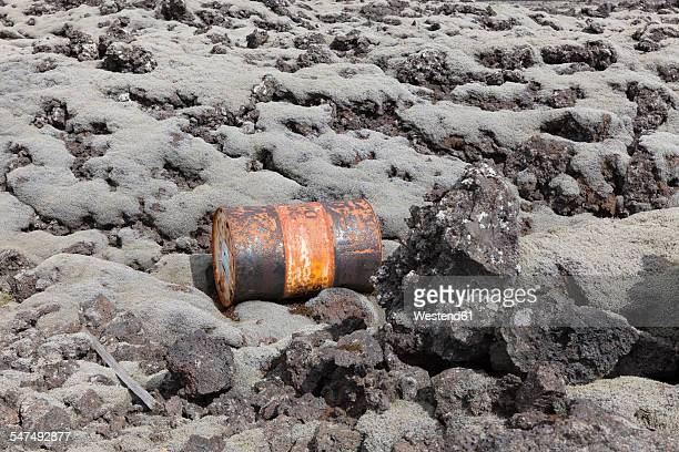 Iceland, rusty can