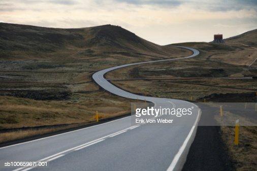 Iceland, south bound road toward Grindavik : Stock Photo