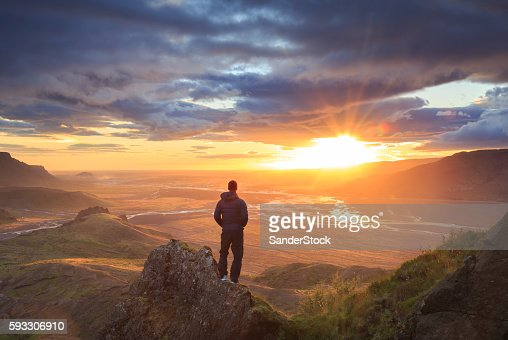 Iceland sunset : Stock Photo