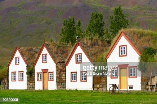 Iceland, traditional farm of Laufas