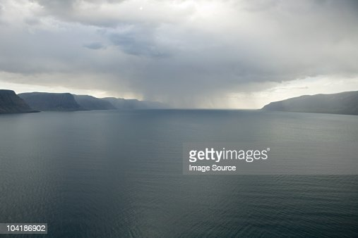 Iceland, view west to stykkisholmur : Stock Photo