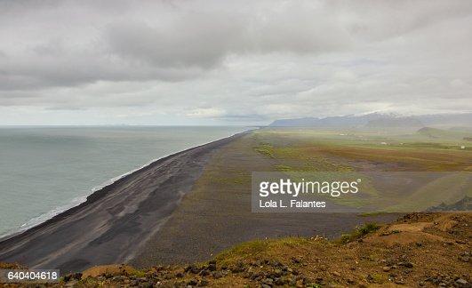 Icelandic black sand beach : Foto de stock
