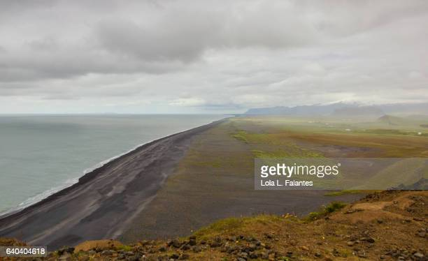 Icelandic black sand beach