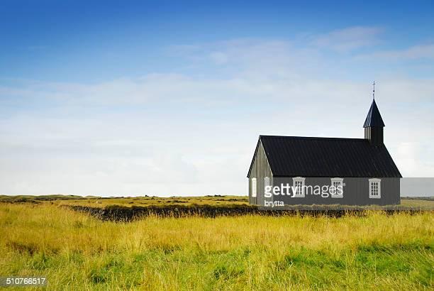 Icelandic church in Budir,Snaefellsnes Peininsula,Iceland