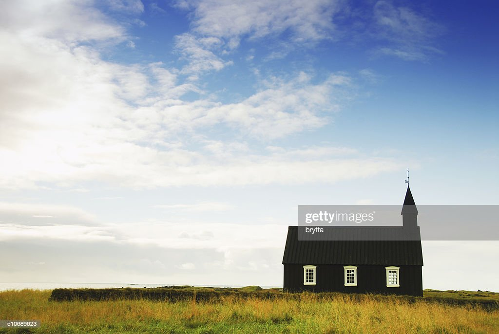 Icelandic church in Budir,Snaefellsnes Peninsula,Iceland