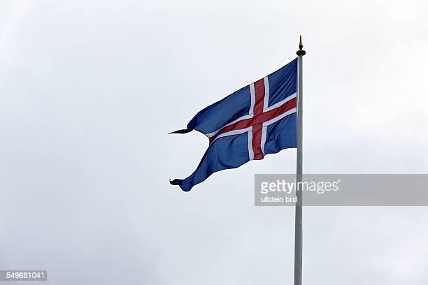 Icelandic Flag on pole Iceland