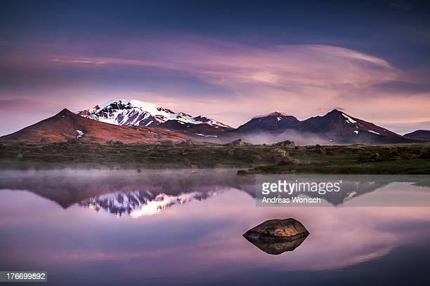 Icelandic Mountain Range Reflection