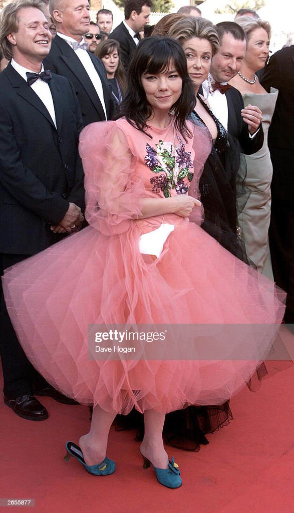 Icelandic pop star 'Bjork' attends the showing of her film 'Dancer in the Dark' at the Cannes Film Festival 2000 on May 17, 2000 in Cannes.