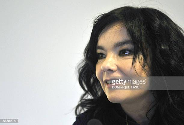Icelandic singer and UN campaigner for the environment Björk holds a press conference on November 6 at the European headquarters in Brussels The UN's...