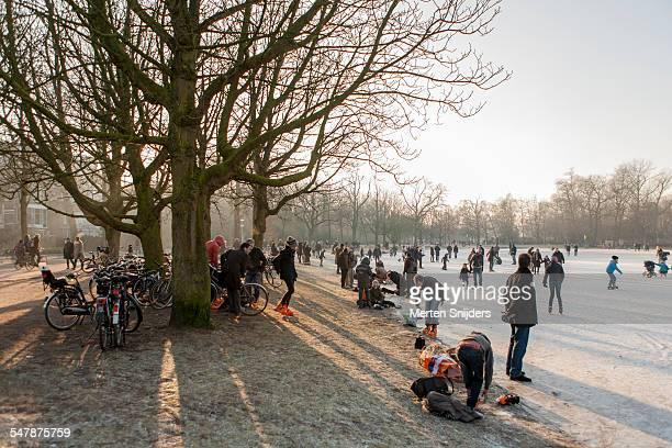 Iceskating in Vondelpark