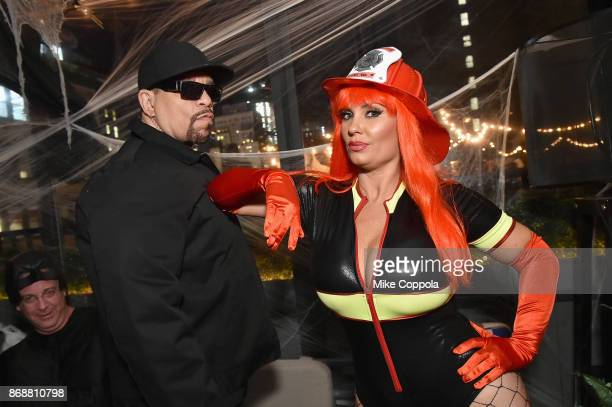 IceT and Coco attend Heidi Klum's 18th Annual Halloween Party presented by Party City and SVEDKA Vodka at Magic Hour Rooftop Bar Lounge at Moxy Times...