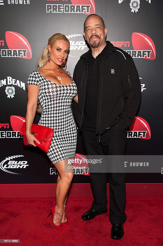 Ice-T (R) and Coco attend the ESPN The Magazine 10th annual Pre-Draft Party at The IAC Building on April 24, 2013 in New York City.
