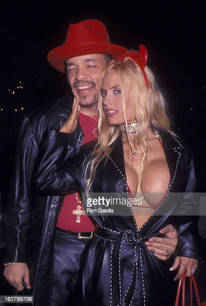 IceT and Coco attend Third Annual Heidi Klum Halloween Benefit Party on October 31 2002 at Capitale in New York City