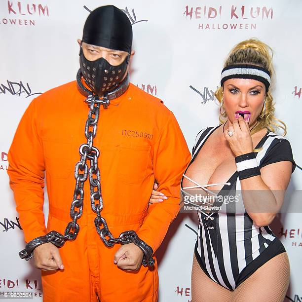 IceT and Coco Austin attend Heidi Klum's 17th Annual Halloween party at Vandal on October 31 2016 in New York City