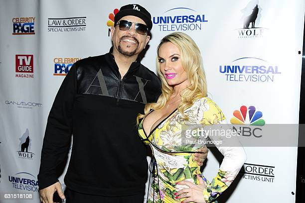IceT and Coco Austin attend TV Guide Celebrates Mariska Hargitay at Gansevoort Park Avenue on January 11 2017 in New York City