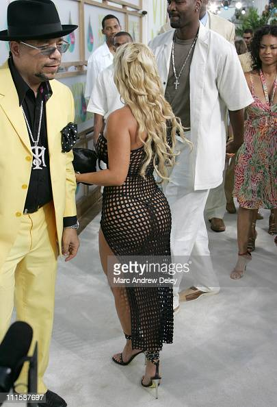IceT and Coco during 2005 MTV Video Music Awards Arrivals at American Airlines Arena in Miami Florida United States