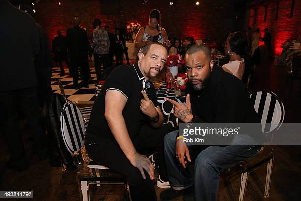 IceT and guest attend David Tutera's CELEBrations IceT Coco's PreBirthday Party For Baby Chanel at Cedar Lake Events on October 22 2015 in New York...
