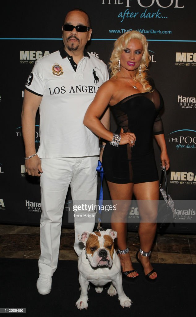 <a gi-track='captionPersonalityLinkClicked' href=/galleries/search?phrase=Ice-T&family=editorial&specificpeople=213017 ng-click='$event.stopPropagation()'>Ice-T</a> and Nicole 'Coco' Austin along with their bulldog Spartacus host The Pool After Dark at Harrah's Atlantic City on Saturday April 7, 2012 In Atlantic City New Jersey.