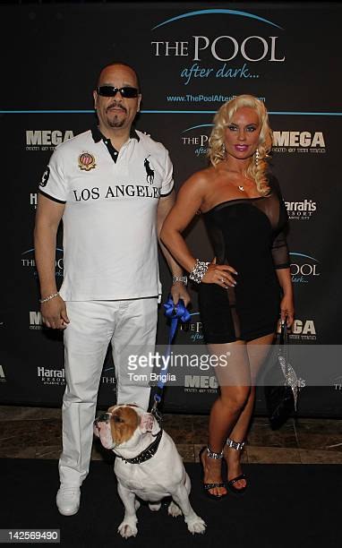IceT and Nicole 'Coco' Austin along with their bulldog Spartacus host The Pool After Dark at Harrah's Atlantic City on Saturday April 7 2012 In...