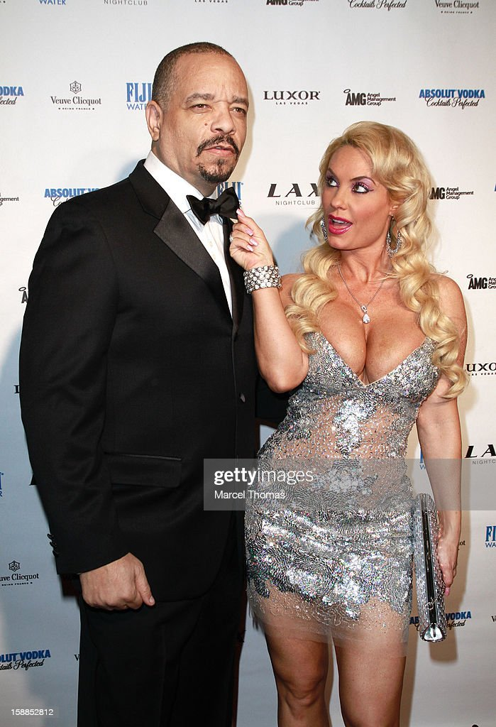 <a gi-track='captionPersonalityLinkClicked' href=/galleries/search?phrase=Ice-T&family=editorial&specificpeople=213017 ng-click='$event.stopPropagation()'>Ice-T</a> and wife Nicole 'Coco' Austin host New Year's Eve at LAX nightclub on December 31, 2012 in Las Vegas, Nevada.