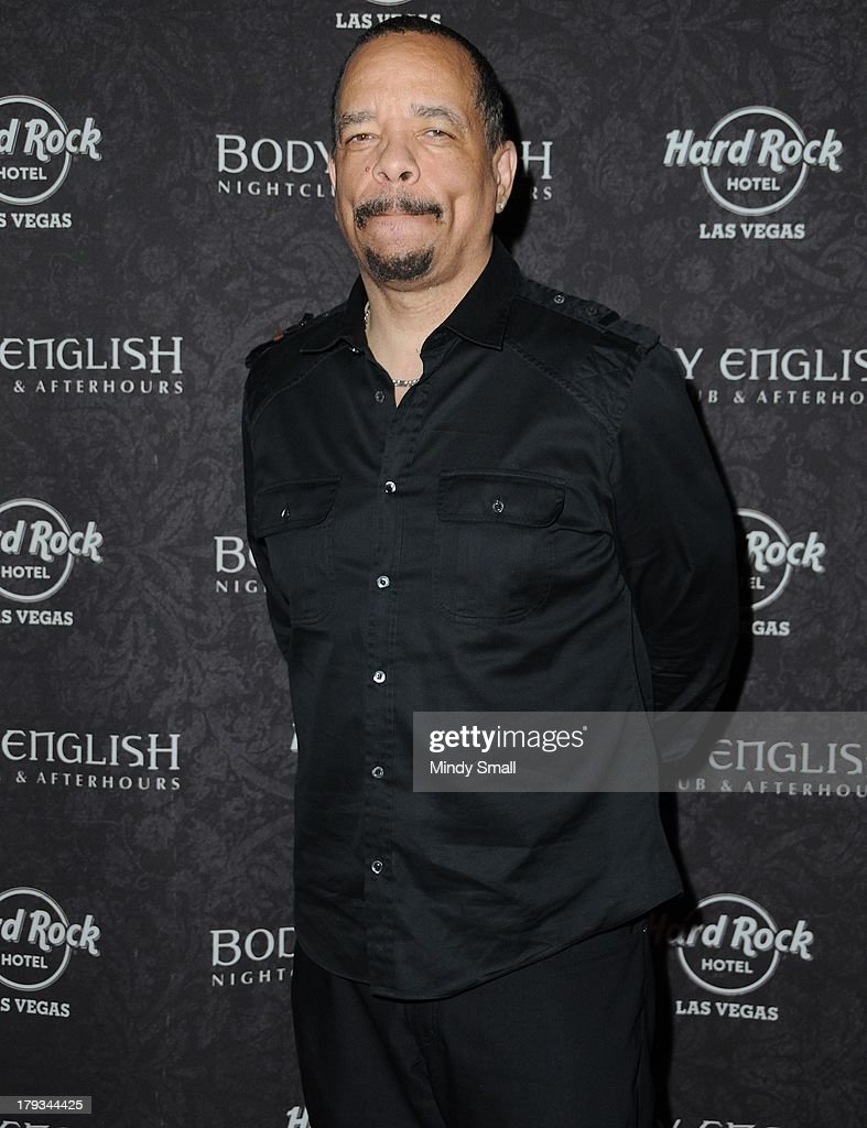 <a gi-track='captionPersonalityLinkClicked' href=/galleries/search?phrase=Ice-T&family=editorial&specificpeople=213017 ng-click='$event.stopPropagation()'>Ice-T</a> arrives at the Body English nightclub inside the Hard Rock Hotel & Casino on September 1, 2013 in Las Vegas, Nevada.