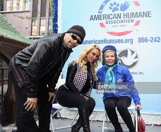 IceT Coco Austin and Lois Pope attend America Salutes FourLegged Military Heroes During 2014 Veterans Day Parade on November 11 2014 in New York City