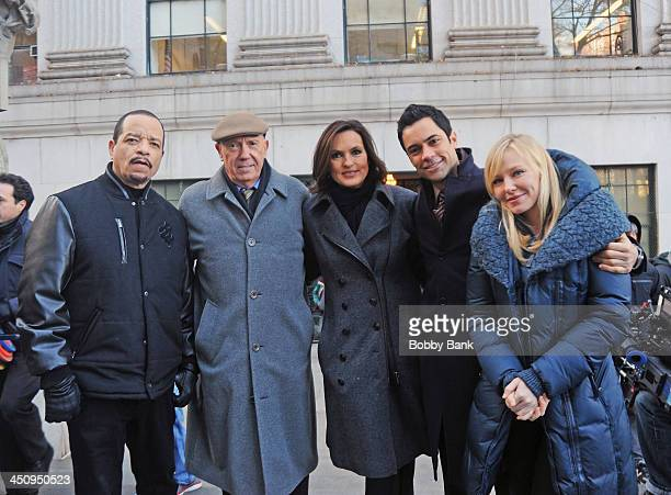 IceT Dann Florek Mariska Hargitay Danny Pino and Kelli Giddish on the set of 'Law Order SVU' on November 20 2013 in New York City