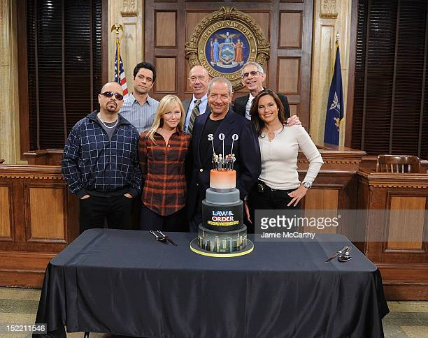 IceT Danny Pino Kelli Giddish Dann Florek writer/creator Dick Wolf Richard Beltzer and Mariska Hargitay attend the 'Law And Order SVU' 300 Episodes...