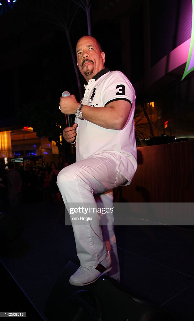 <a gi-track='captionPersonalityLinkClicked' href=/galleries/search?phrase=Ice-T&family=editorial&specificpeople=213017 ng-click='$event.stopPropagation()'>Ice-T</a> performs live on stage while hosting the Pool After Dark at Harrah's Resort on Saturday April 7, 2012 In Atlantic City New Jersey.