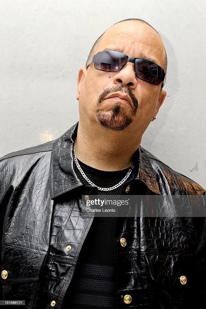 <a gi-track='captionPersonalityLinkClicked' href=/galleries/search?phrase=Ice-T&family=editorial&specificpeople=213017 ng-click='$event.stopPropagation()'>Ice-T</a> poses at the Guess Portrait Studio on Day 3 during the 2012 Toronto International Film Festival at Bell Lightbox on September 8, 2012 in Toronto, Canada.
