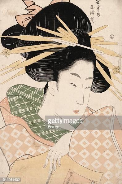 Ichirakutei Eisui fl 17891823 Tamaya uchi shizuka Date Created/Published between 1797 and 1799 Color woodcut print 371 x 248 cm