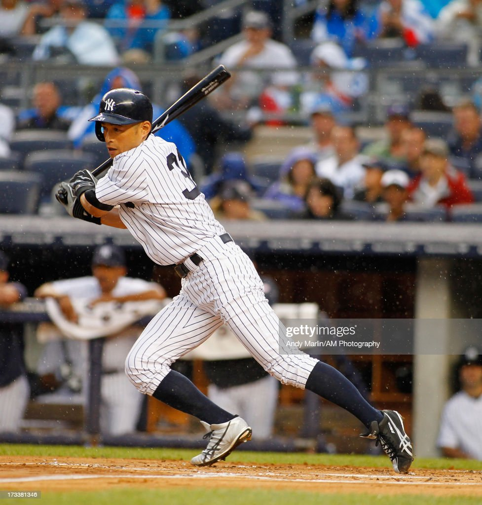 <a gi-track='captionPersonalityLinkClicked' href=/galleries/search?phrase=Ichiro+Suzuki&family=editorial&specificpeople=201556 ng-click='$event.stopPropagation()'>Ichiro Suzuki</a> #31 of the New York Yankees bats against the Minnesota Twins at Yankee Stadium on July 12, 2013 in the Bronx borough of New York City.