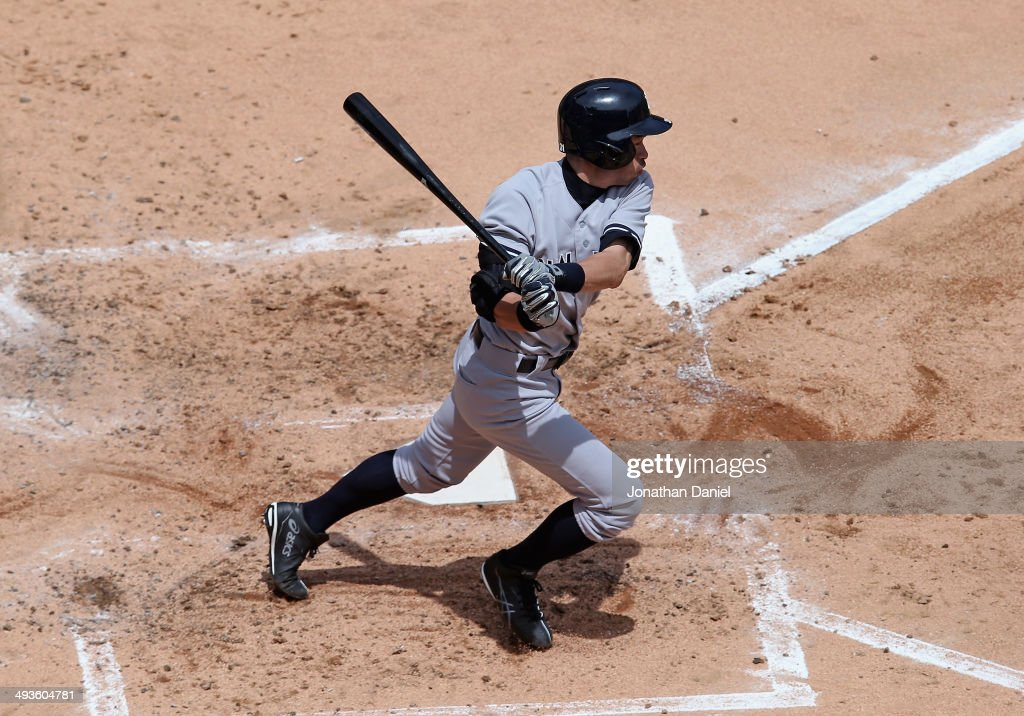 Ichiro Suzuki #31 of the New York Yankees grounds out in the 3rd inning against the Chicago White Sox at U.S. Cellular Field on May 24, 2014 in Chicago, Illinois.