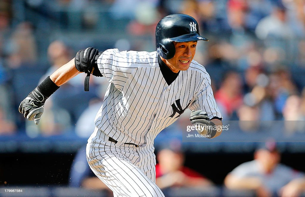 <a gi-track='captionPersonalityLinkClicked' href=/galleries/search?phrase=Ichiro+Suzuki&family=editorial&specificpeople=201556 ng-click='$event.stopPropagation()'>Ichiro Suzuki</a> #31 of the New York Yankees in action against the Boston Red Sox at Yankee Stadium on September 7, 2013 in the Bronx borough of New York City. The Red Sox defeated the Yankees 13-9.