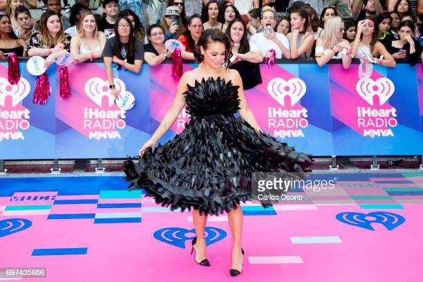 TORONTO ON JUNE 18 IChloe Wilde MMVA Red Carpet Host eTalk and E reporter walks the carpet at the 2017 iHeartRadio Much Music Video Awards in Toronto...
