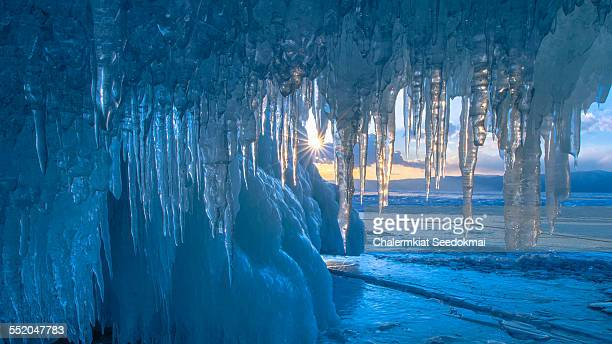 Icicle at Baikal Lake