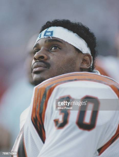 Ickey Woods Fullback for the Cincinnati Bengals during the National Football League Super Bowl XVIII game against the San Francisco 49ers on 22...