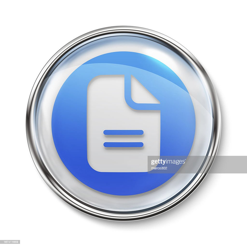 Icon - Document : Stock Photo